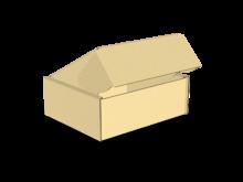 Scatola bauletto automontante piatta COD. 16_11036