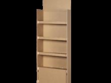 Espositore con quattro ripiani con ganci in plastica – COD. 122564