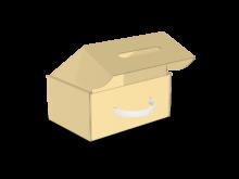 Scatola bauletto automontante con maniglia in plastica COD. 16_10960