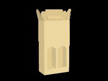 Scatola shopper per due bottiglie COD. 16_C9357