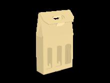 Scatola shopper per tre bottiglie COD. 16_C9485
